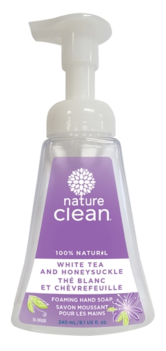 Picture of Nature Clean Nature Clean Foaming Hand Soap, White Tea & Honeysuckle 240ml