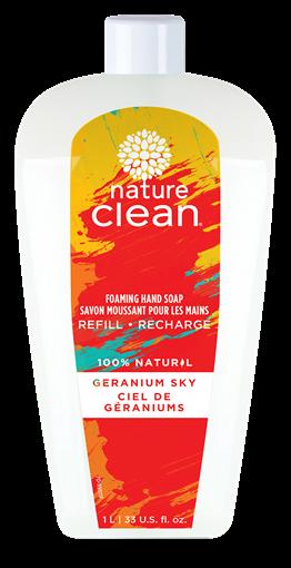 Picture of Nature Clean Nature Care Sky Foaming Hand Soap, Geranium Sky 1L