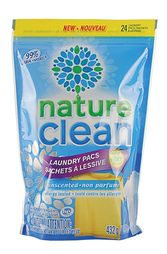 Picture of Nature Clean Laundry Pacs, Unscented 432g