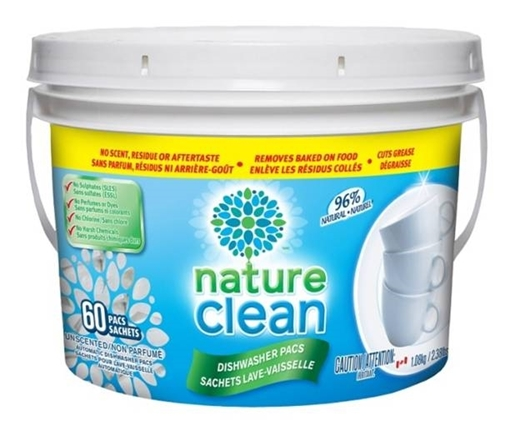 Picture of Nature Clean Nature Clean Automatic Dishwasher Pacs, 60 Count