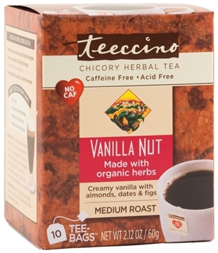 Picture of Teeccino Teeccino Vanilla Nut Herbal Tea, 10 Bags