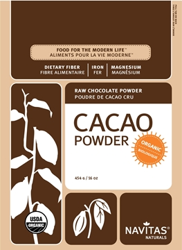 Picture of Navitas Organics Cacao Powder, 454g