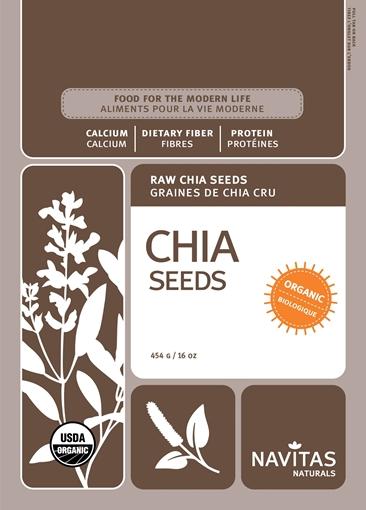 Picture of Navitas Organics Chia Seeds, 454g