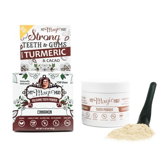 Picture of My Magic Mud My Magic Mud Turmeric Tooth Powder, Cinnamon 40g
