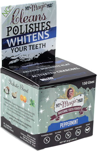 Picture of My Magic Mud Charcoal Tooth Powder Peppermint, 30g
