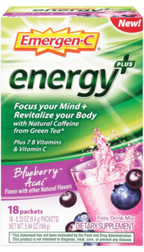 Picture of Emergen-C Energy+ Blueberry Acai, 18 Packets