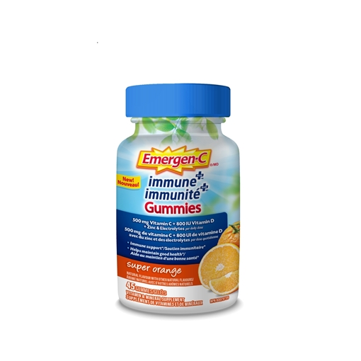 Picture of Emergen-C Immune+ Super Orange Gummies, 45 ct