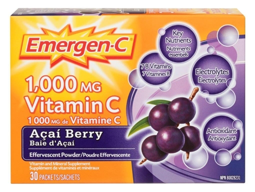 Picture of Emergen-C Acai Berry, 30 Packets