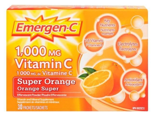 Picture of Emergen-C Super Orange, 30 Single Packets