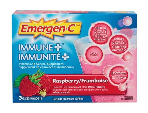 Picture of Emergen-C Emergen-C Immune Plus Raspberry, 24 Single Packets