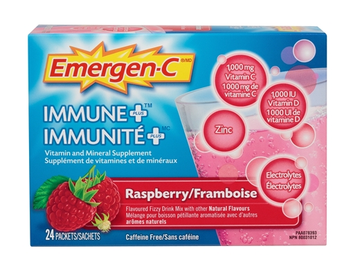 Picture of Emergen-C Immune Plus Raspberry, 24 Packets