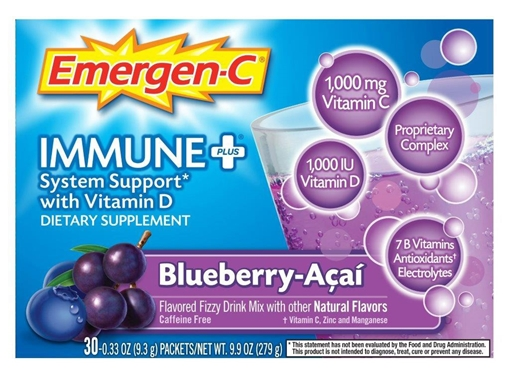 Picture of Emergen-C ImmunePlus Blueberry Acai, 24 Packets