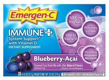 Picture of Emergen-C ImmunePlus Blueberry Acai, 24 Single Packets
