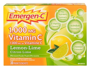 Picture of Emergen-C Emergen-C Lemon Lime, 30 Single Packets