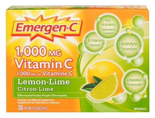 Picture of Emergen-C Lemon Lime, 30 Packets