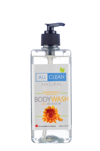 Picture of All Clean Natural All Clean Natural Body Wash, Orange Vanilla 500ml