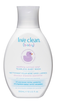 Picture of Live Clean Live Clean Baby Soothing Oatmeal Tearless Wash, 300ml