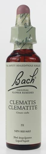 Picture of Bach Bach Clematis Flower Remedy, 20ml