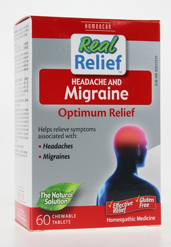 Picture of Homeocan Homeocan Real Relief Headache and Migraine, 60 Tablets