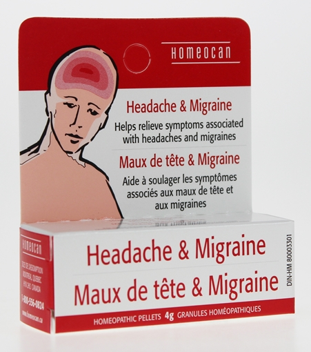 Picture of Homeocan Homeocan Headache & Migraine Pellets, 4g