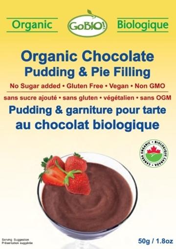 Picture of GoBIO! Organics Organic Pudding, Chocolate 12x50g