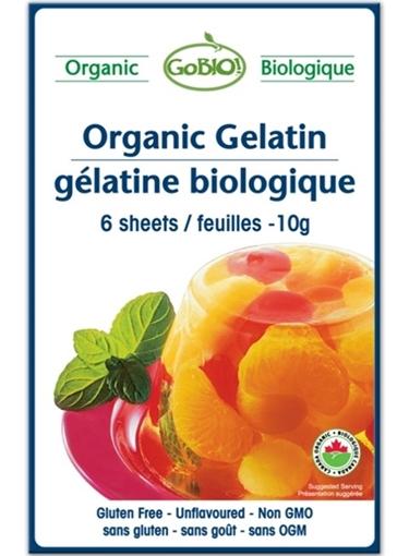 Picture of GoBIO! Organics GoBIO! Organic Gelatin Sheets 10g