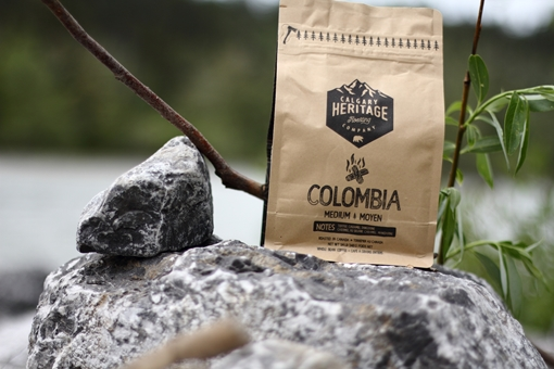 Picture of Calgary Heritage Roasting Company Ltd. Colombian whole bean coffee, MED 340 Grams