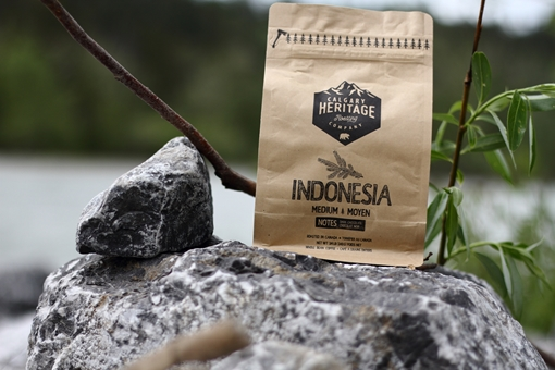 Picture of Calgary Heritage Roasting Company Ltd. Indonesian whole bean coffee, MED 340 Grams
