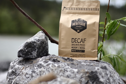 Picture of Calgary Heritage Roasting Company Ltd. Decaf whole bean coffee, MED 340 Grams