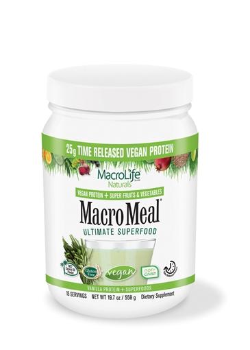 Picture of MacroLife Naturals MacroMeal Vegan Vanilla, 15 serving 615g