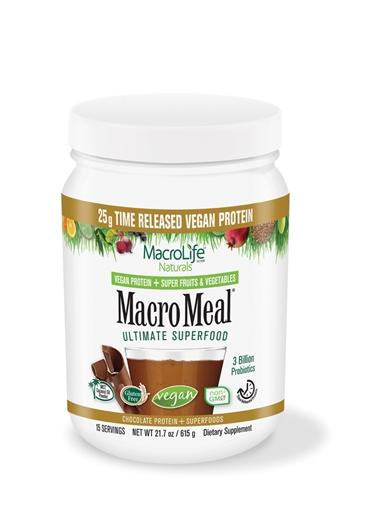 Picture of MacroLife Naturals MacroMeal Vegan Chocolate, 15 serving 675g