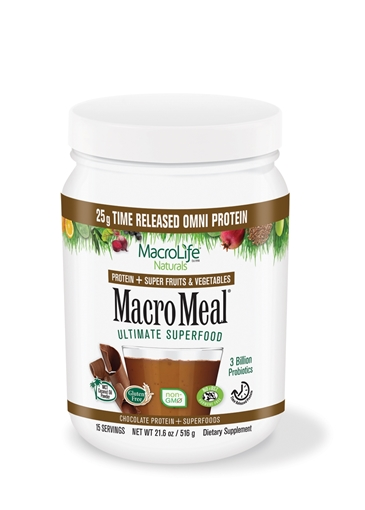 Picture of MacroLife Naturals MacroMeal Omni Chocolate, 15 serving 675g