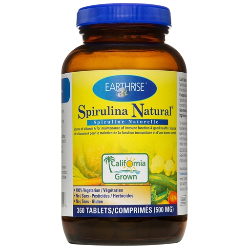 Picture of Earthrise Nutritionals Spirulina 500mg, 360 Tablets