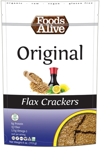 Picture of Foods Alive Inc. Original Flax Crackers Organic, 6x113g