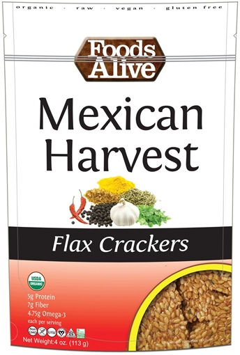 Picture of Foods Alive Inc. Mexican Harvest Flax Cracker Organic, 6x113g