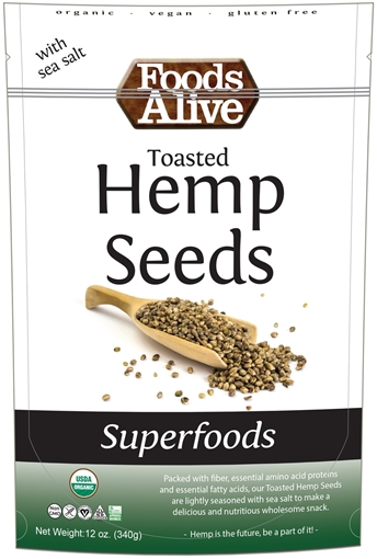Picture of Foods Alive Inc. Toasted Hemp Seeds - Organic, 6x340g