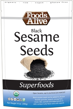 Picture of  Black Sesame Seeds - Organic, 6x454g