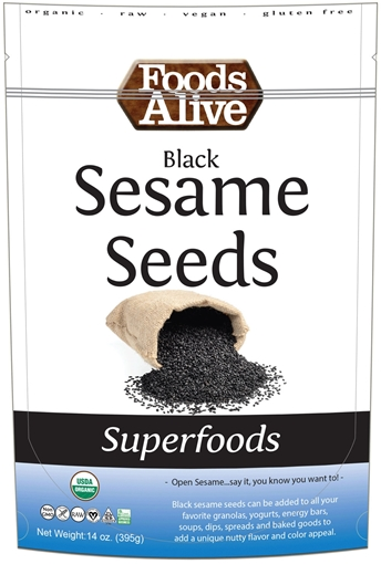 Picture of Foods Alive Inc. Black Sesame Seeds - Organic, 6x454g