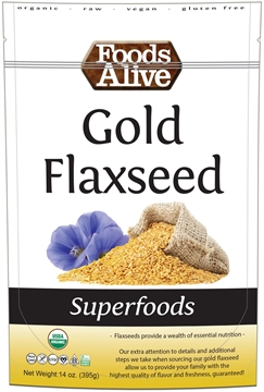 Picture of Foods Alive Inc. Gold Flaxseed - Organic, 6x395g