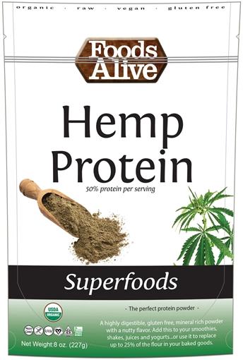 Picture of Foods Alive Inc. Hemp Protein Powder (50%) - Organic, 6x227g