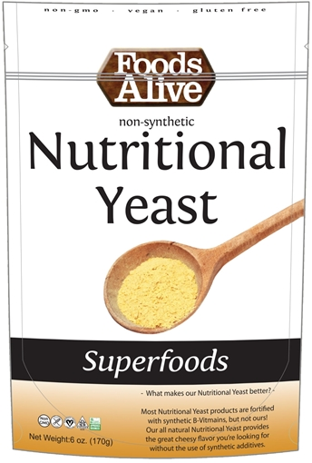 Picture of Foods Alive Inc. Nutritional Yeast, 6x170g