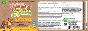 Picture of Hero Nutritionals Yummi Bears Vitamin D3 Organic, 60 Gummies