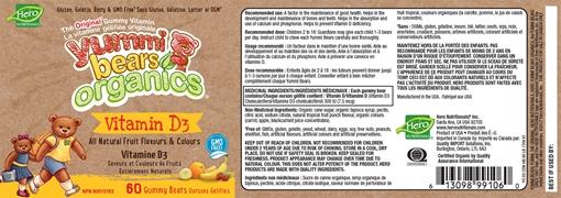 Picture of Hero Nutritionals Yummi Bears Vitamin D3 Organic Gummies, 60 ct