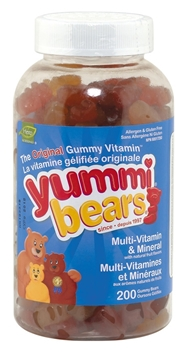 Picture of  Yummi Bears Multi Vitamin & Min, 200 Gummies