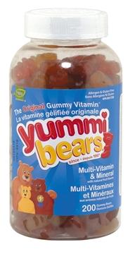 Picture of Hero Nutritionals Yummi Bears Multi Vitamin & Min, 200 Gummies