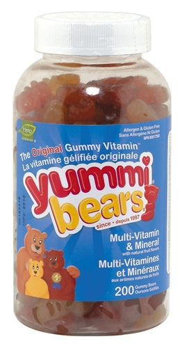 Picture of Hero Nutritionals Yummi Bears Multi Vitamin & Min, 200 Gummies