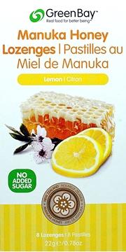 Picture of Green Bay Manuka Honey Green Bay Manuka Honey Lozenges, Lemon 22g