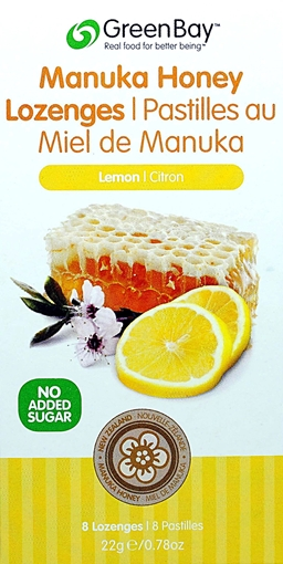 Picture of Green Bay Manuka Honey Green Bay Manuka Honey Lozenges, Lemon 22g