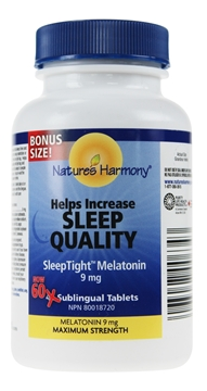 Picture of Nature's Harmony Sleep Tight Melatonin Max 9mg, 60 Tablets