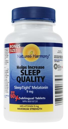 Picture of Nature's Harmony Sleep Tight Melatonin Max, 9mg/60 tabs